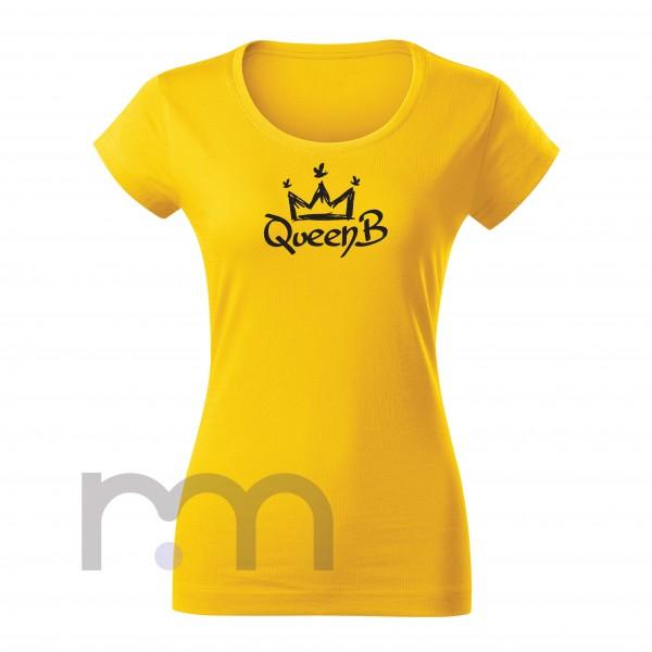 QueenB Dámske Tričko Yellow