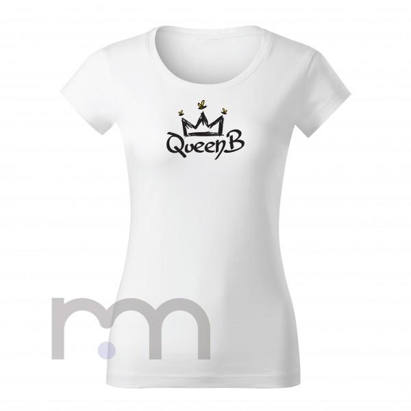 QueenB Dámske Tričko White