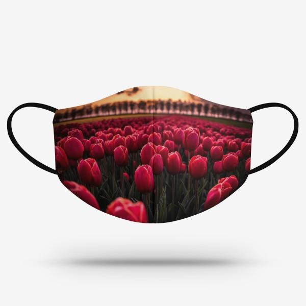 Merch mask - Tulipány
