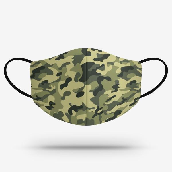 Merch mask - Zelená kamufláž